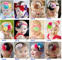 Cute Kid Girl Baby Headband flower hair band, Princess necessary funds, diamond hoop girl child points
