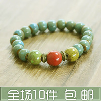 Coloured glaze beads new arrival bracelet jingdezhen ceramic accessories honey lovers