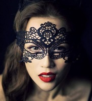 New 2014 elegant black lace mask whole high quality women sexy cutout halloween masquerade wholesale 100pcs/lot