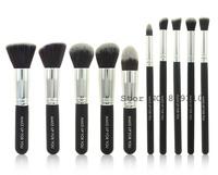 Brand 10pcs TOP quality professional kabuki Makeup Brush kit 10 pcs Cosmetic Facial Powder Foundation  make up Brushes Set