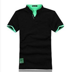 New 2014 Fashion Slim Fit Men Polo Shirts/Designed Summer Short Sleeve V-neck Polo Shirts Men/Casual Cotton Polo Shirts For Men