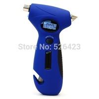 5in1 Survival Tool Knife LED Torch Emergency Safe Hammer Tire Air Pressure Gauge