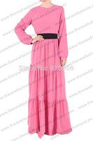 MU10024 Fast Shipping 2014 summer   malaysia clothing fancy chiffon abaya muslim niqab modest wear jilbab women cloth kaftan