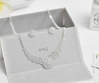 Korean jewelry necklace earrings wedding ceremony wedding accessories 2 sets