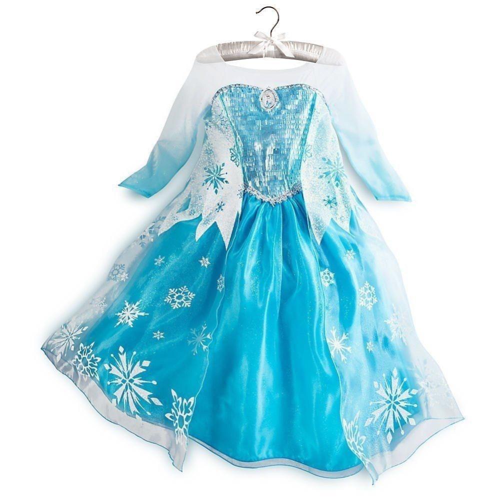 2014 new fashion frozen kids dress fantasia frozen princess girls cosplay costume party dress(China (Mainland))