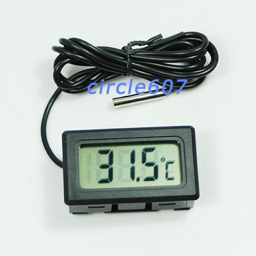 G104Free Shipping New Aquarium LCD Digital Thermometer Fish Tank Water(China (Mainland))