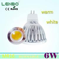 FREE SHIPPING 10pcs/lot 6W MR16 COB LED Spot Light Spotlight Bulb Lamps High power lamp AC/DC12V