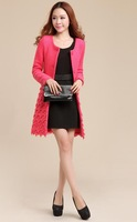 856#Free shipping 2014 winter ladies fashion coat ,women OL outerwear jacket coat ,new arrival lace coat