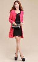 856#Free shipping 2014 winter ladies fashion coat ,women OL outerwear jacket coat ,new arrival lace coat