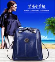 European Preppy Style Fashionable Real Cowhide Leather Women Young Ladies Handbag Teenagers School Bag Travel Bag Freeshipping