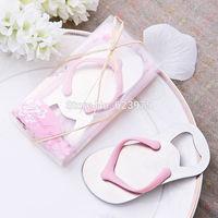 Cute Flip-Flop Pink Bottle Openers Wedding Gift Wine Accessories 12pcs/lot