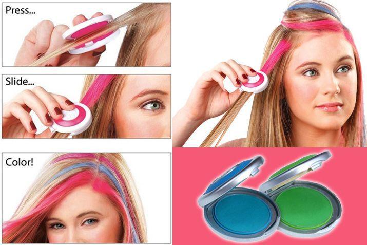 NEW 4 colors Temporary Hair Chalk Tiza Del Pelo Hot Pink Blue Fuchsia Neon Green (No Retail Box) Beauty Hair 4PCS Free Shipping(China (Mainland))