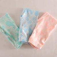 2014 New Faction Flower Printed Kids Girls Leggings Free Shipping 3-8Y Girls Pants