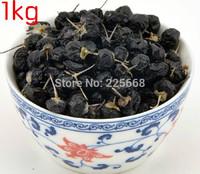 1000g Dried Chinese Black Wolfberry 1KG(2.2LB) Natural Wild Organic Black Goji Berries Herbal Tea