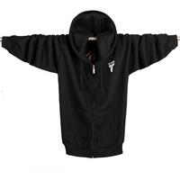 Free shipping Kobe Bryant Zipper Hoodies Outwear  Suits Men's Sportswear Coat Basketball Jacket  Plus SizeM/ L/XL/2XL/3XL/4XL