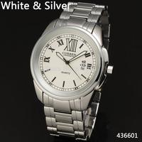 2014 new retro curren men women fashion high quality full steel stainless strap calendar classic wrist quartz watch 4366
