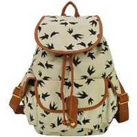 Free Shipping Fashion printing women backpack Canvas school bags Vintage New Design mochila feminina