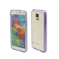 10pc/lot New Arrival colorful Crystal high Clear TPU+PC Cover Case with dustplug for samsung S5 I9600 , free shipping, free ship