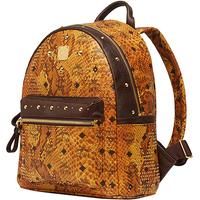 Leather shoulder bag leather fashion sports bag computer backpack  snake embossed rivets 32*28*18CM    NBB276 Y8P