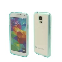 20pc/lot New Arrival colorful Crystal high Clear TPU+PC Cover Case with dustplug for samsung S5 I9600 , free shipping, -