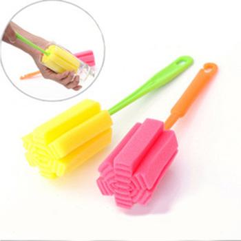 Practical Easy Sponge Cup Brush Cleaning Milk Bottle CoffeTea Brush Glass bottle Drop Shipping HSKD1087
