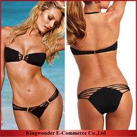 Free Shipping Wholesale 2014 Black Design Sexy Women's Swimsuit Swimwear Beachwear Bikini Set beach BKN 012