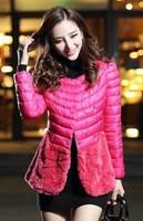 875#Free shipping 2014  ladies fashion coat ,women double buttom wool outerwear jacket coat ,short slim winter coat