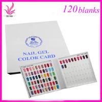 Free ShippingNew 120 Colors Nail Gel Polish Display Book Chart for Nail Art Salon UV gel Color Card NEW nail color card