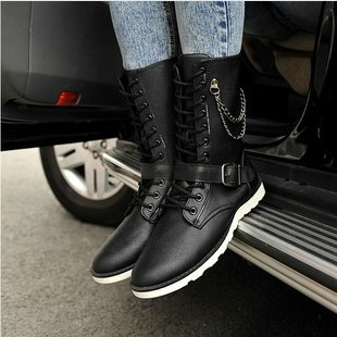 2014 new arrival winter&autumn high quality&comfortable fashion boots men round toe popular shoes free shipping(China (Mainland))