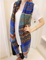 2014 Bohemia national trend scarf female silk scarf rhombus geometry cape air conditioning Free shipping sa2500