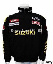 Motorcycle Jackets Suzuki Men Racing Jacket Cotton Suit Long Sleeve M-XXL Free Shipping(China (Mainland))