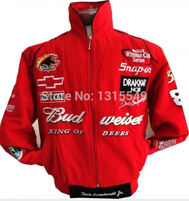 F1 Racing Budweiser Car Racing Suit Raça de automóvel Jacket Coat Men Esporte longo Leeved ML XL XXL(China (Mainland))