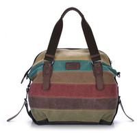 High Quality Fashion Canvas With PU leather bag handbag Women Handbag Women Clutch Free Shipping women handbags