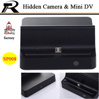 Non stop Hidden Camera in Phone Charging Dock Motion Detection Mini HD 720p  Remote Control  Free Shipping