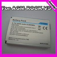 One piece free shipping 100% unlocked battery 2450mAh for Original AGM Rock V5 Waterproof phone