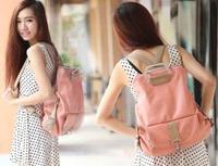 2014 New College Wind  dual-use  backpack school bag female bag big bag PU  backpack B-022