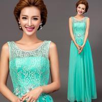 Elegant green flowers lace off the shoulder evening dress 2014 hot sale vestidos de festa longo plus size dresses 7302 kc