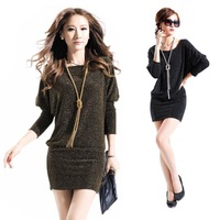 S-XL Autumn New Women Casual Dress 2014 Fashion Sexy Long-Sleeved Package Novelty Mini Dresses Vestidos Plus Size 8057