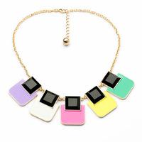 COL156 2014 New big Wholesale Geometric Statement big Necklaces women maxi colares Collier bijoux