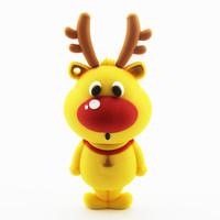New Cartoon Christmas Gift Deer USB Flash Drive Thumb Stick Pendrive 2gb 4gb 8gb 16gb 32gb 64gb free shipping