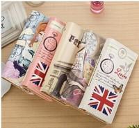 2014 new graffiti pattern embossed wallet variety of Korean women two fold wallet wallet phone package