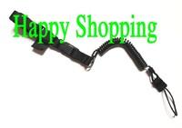 Multi-Purpose Rope elasticity pistol Mini-Coil lanyard safe carrying sling loop Black