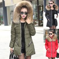 Women's Winter Jackets 2014 Autumn And Winter New Korean Brand Long XL Slim Women Parka Nagymaros Collar Goose Down Jacket E1482