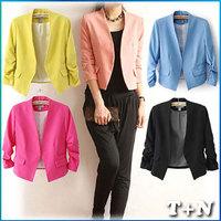 women coats  fashion 2014 casual autumn slim fit free shipping