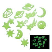 Free shipping Cosmos Stars Glow in the Dark Luminous Fluorescent Plastic Wall Stickers