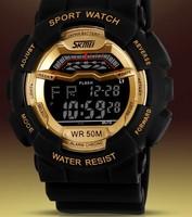 Free shipping new men or women versatile luminous chronograph military style sports fashion waterproof watch digital relogio