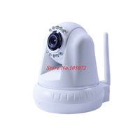 Mega pixels IP camera IP1001W RJ-45 Wifi P2P Two-way Audio IR-CUT night vision Rotation Network camera by Singapore post