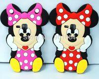 For Samsung Galaxy S Duos S7562 Win i8552 S3 Mini S4 Mini 3D Minnie Cartoon Cute Silicone Case Cell Phone Rubber Cover 1pcs/lot