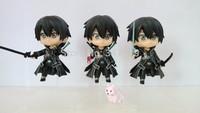 Free shipping cartoon figures game models Sword Art Online kirigaya kazuto Kirito model 3 pcs a lot anime action