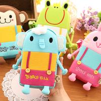 Free shipping 1 pc South Korea fashion children's cartoon animals inclined shoulder bag Single shoulder bag baby cloth bag